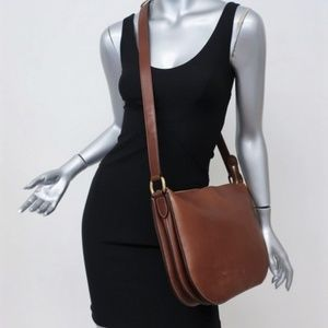 Celine Medium Saddle Bag Brown Leather